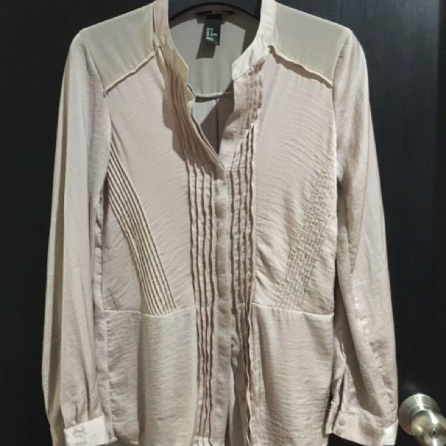 H&M Satin Shirt