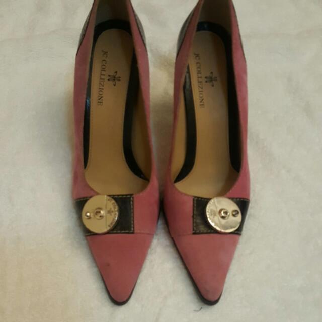 JcCollezione Pink pointy pump high heel