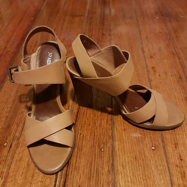 Jo Mercer Nude Strap Heels (Size 7.5)
