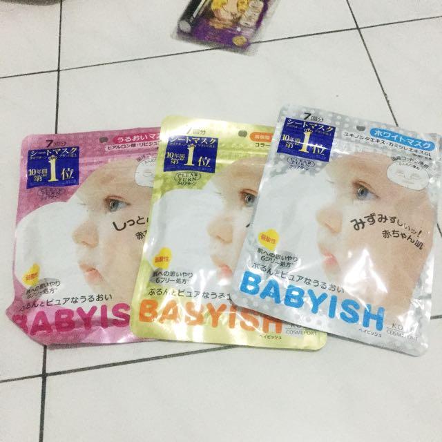 Kose Babyish Mask Sheet (per Pack 7 Sheet)
