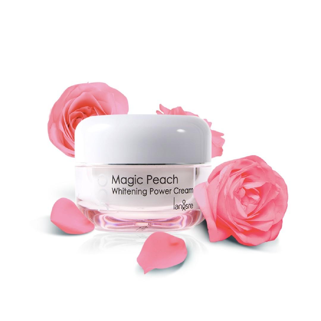 Langsre Magic Peach Whitening Power Cream [HALAL] [WHITENING], Kesehatan &  Kecantikan, Kulit, Sabun & Tubuh di Carousell