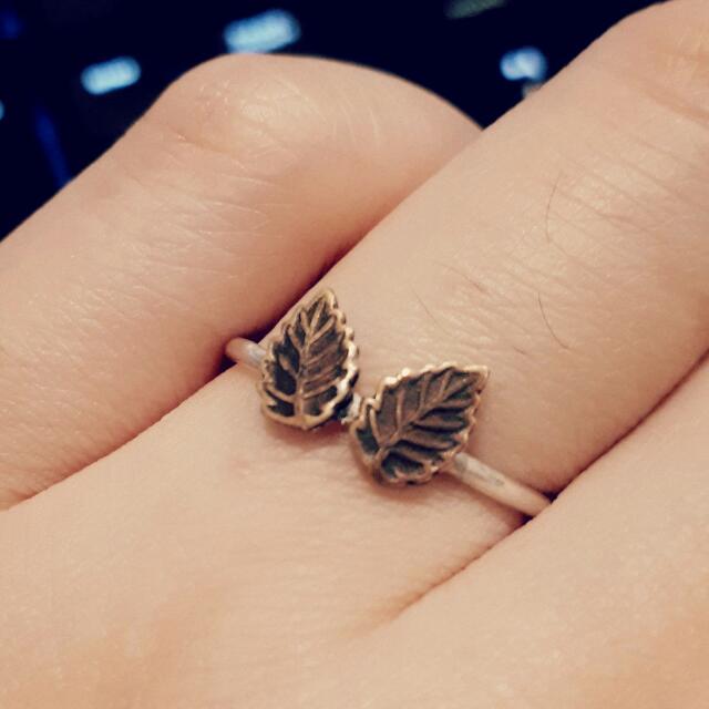 Leaf Ring 925 Sterling Silver