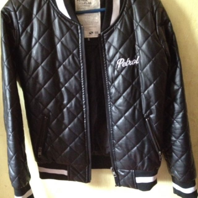 petrol leather jacket