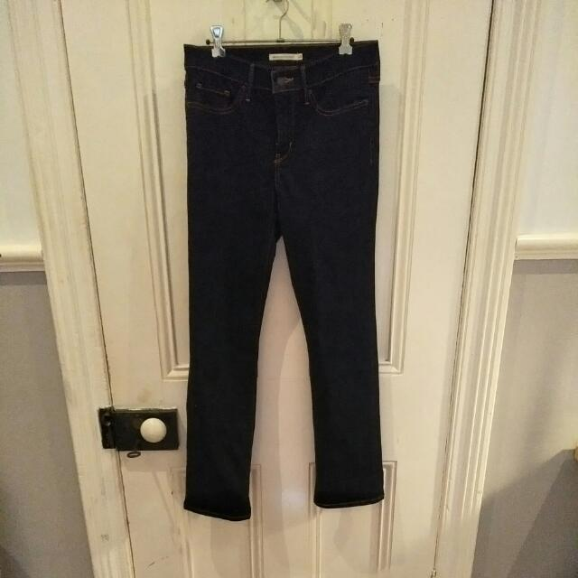 Levi Straight Leg Dark Denim