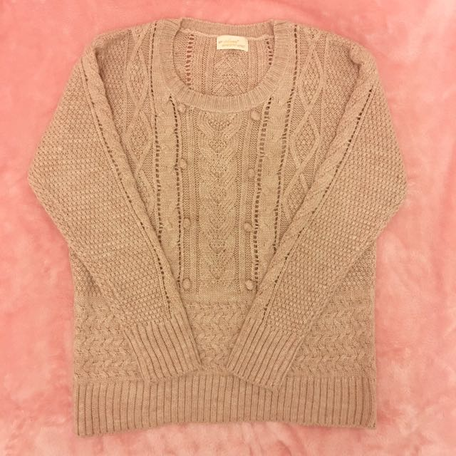 Light Brown Knit Top