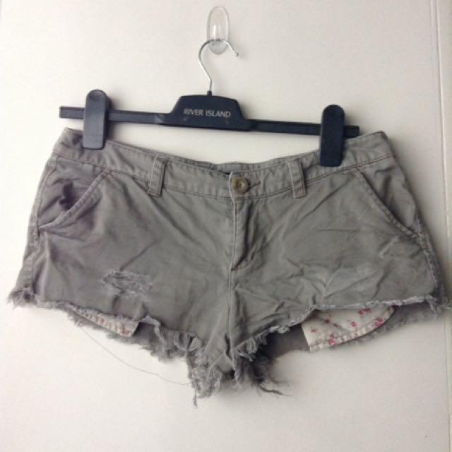 Mango Beige Short Shorts