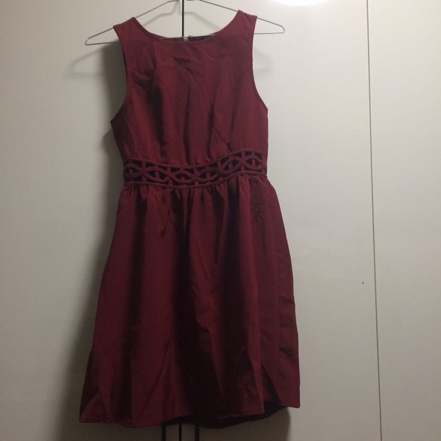 Maroon Short Dress