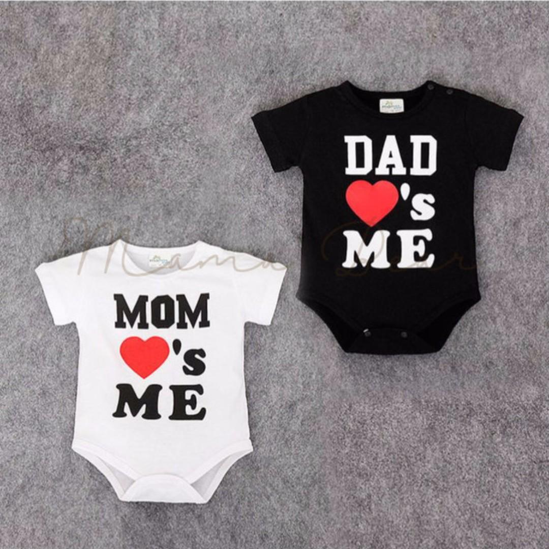 Mom And Dad Love's Me Print Kids Bodysuit