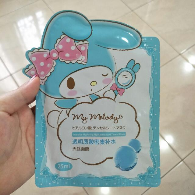 My Melody hydrating face mask