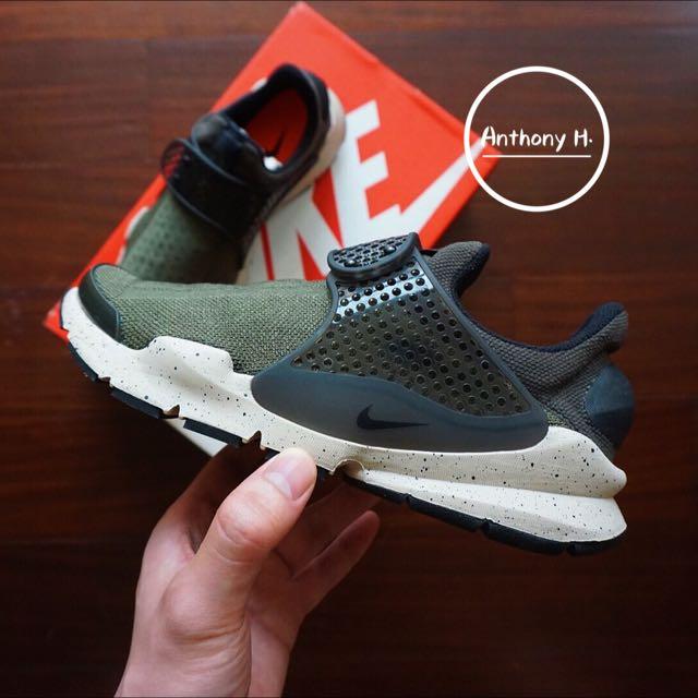 Nike Sock Dart 女段 軍綠 墨綠 潑墨 23.5cm
