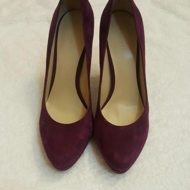 Nine west purple pump high heel brand new