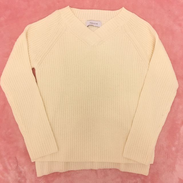 Off White Knit Top