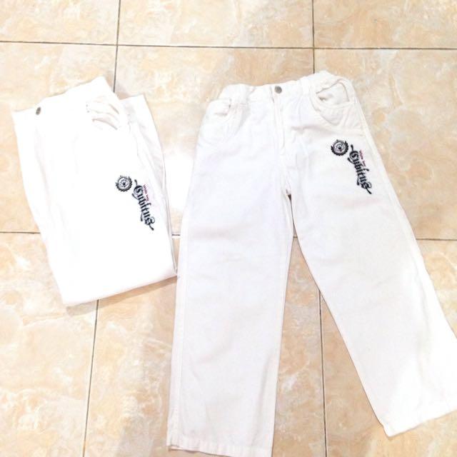 Original Cubitus White Long Pants