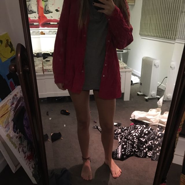 Oversized Red Throw Over