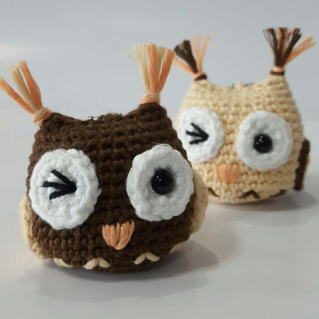Owl Crochet Animal. Handmade Small Owl. Owl Amigurumi. Owl Stuffed ... | 640x640