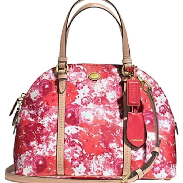 REPRICE Preloved Coach Peyton Floral Dome Satchel