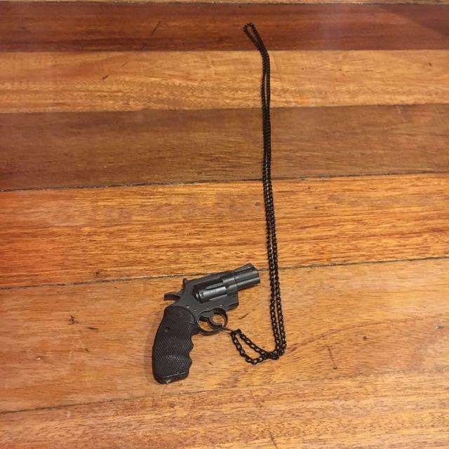 Pistol Pendant w/ Necklace