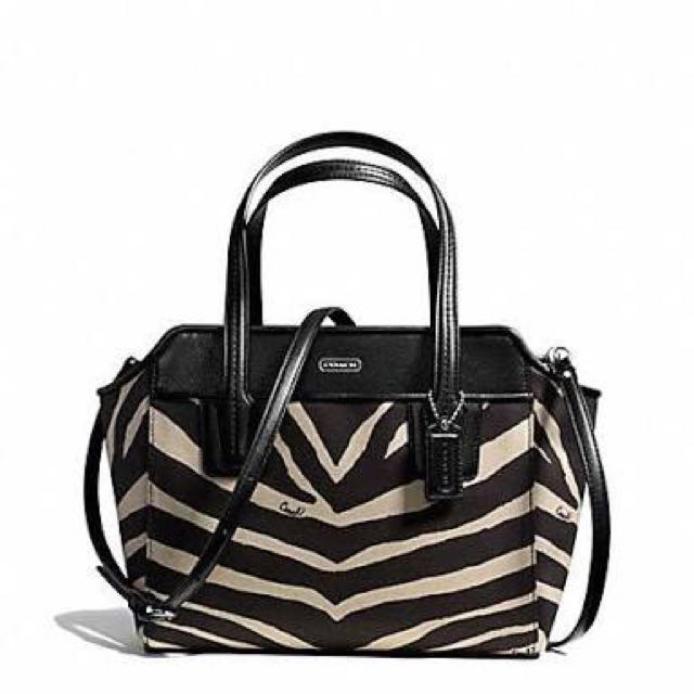 REPRICE Preloved Coach Bette Mini Zebra Sling Bag