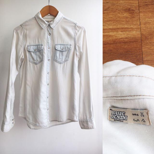 Pull & Bear Washed Denim Shirt