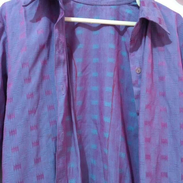 PURPLE BLAZER ETNIK