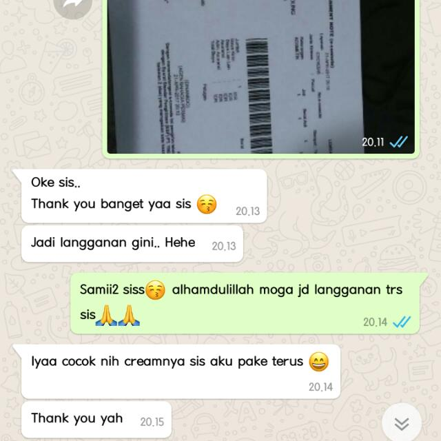 REAL TESTI CREAM WHITENNING AND GLOWING INSTANT FROM MY CUST😍