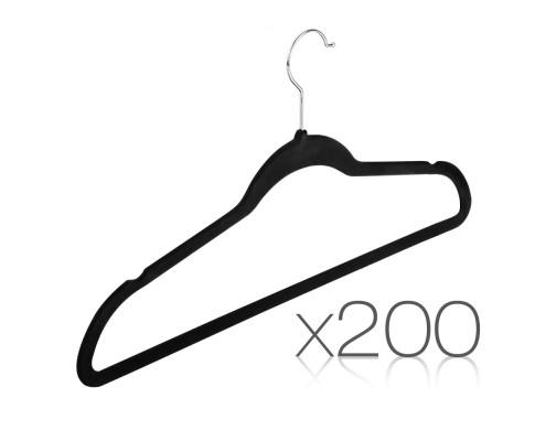 Set of 200 Velvet Coat Hangers
