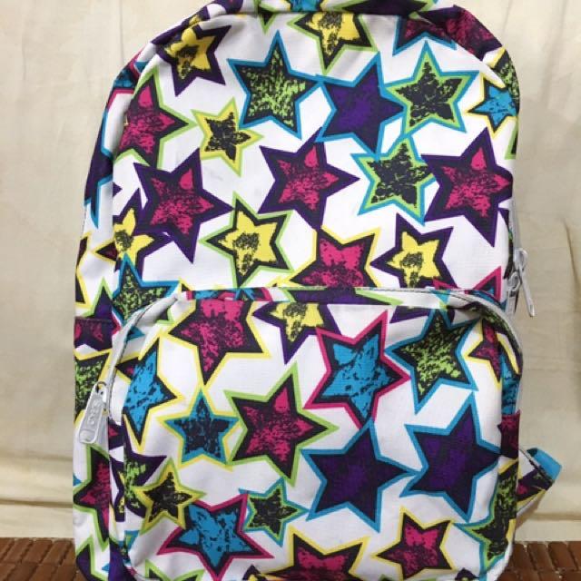 SPAO塗鴉設計星星款後背包(8成新)