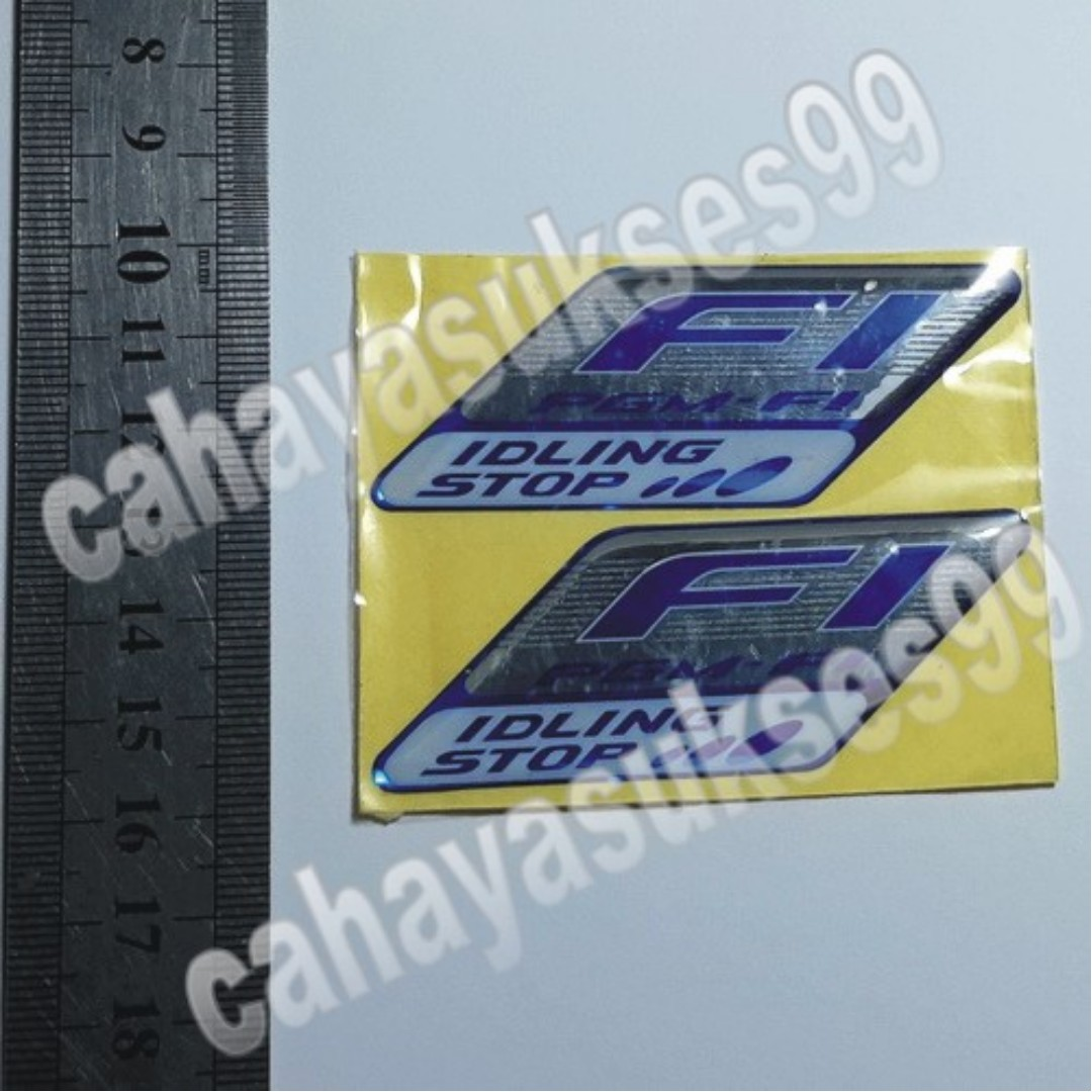 Sticker timbul f1 pgm motor logo emblem honda idling stop stiker plastic tebal resin model original 1 set isi 2pcs auto accessories on carousell