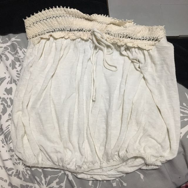 Strapless White Top