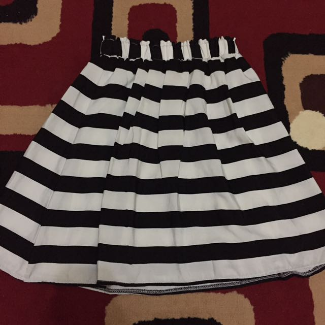 Striped Black N White Skirt