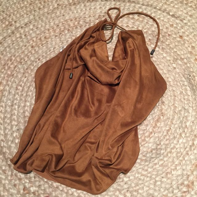 Suede Bardot Top