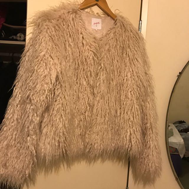 Supré Shaggy Faux Fur Coat