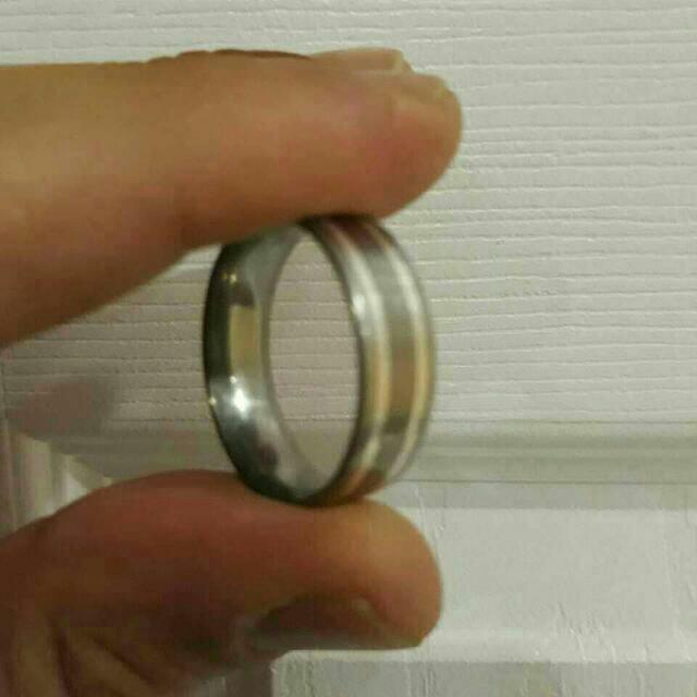 Unique Silver and Titanium Ring