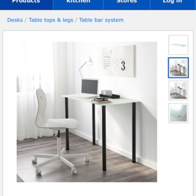 Used 2 Complete Sets Of Ikea Glasholm Table Tempered Glass White 1 Take Furniture Tables Chairs On Carou