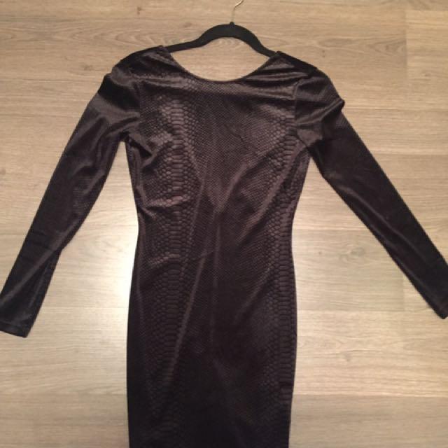 Velvet Backless Dress