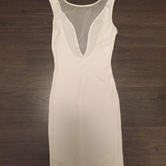 White American Apparel Backless Dress