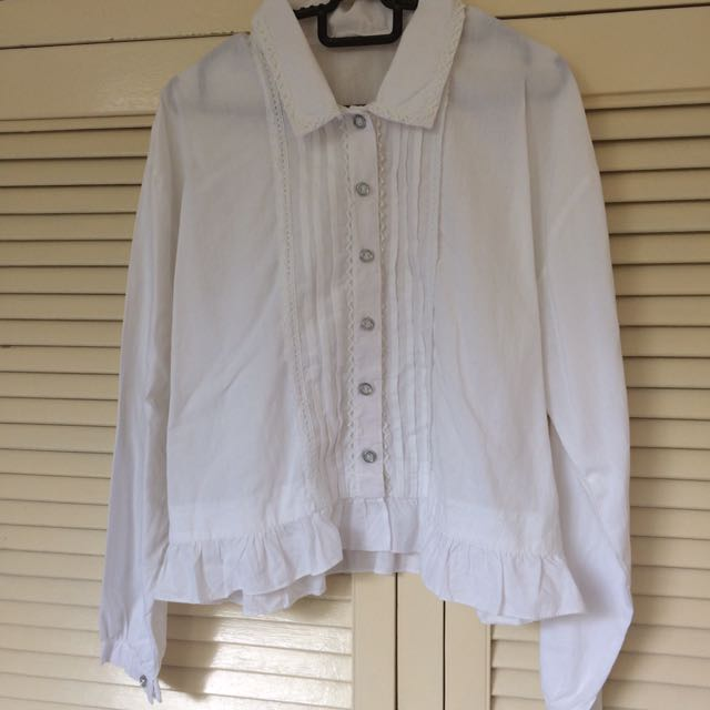 White Collar Long Sleeves Shirt