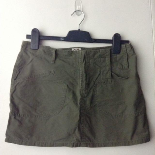 Xoxo Army Green Mini Skirt