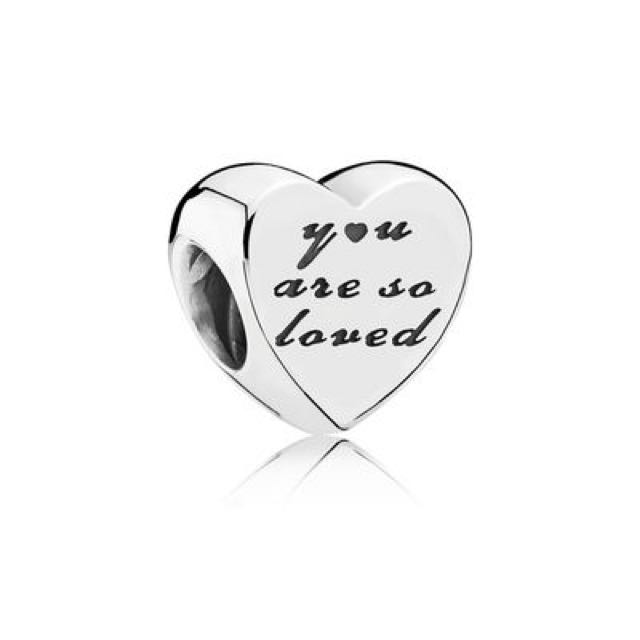 You are So Loved PANDORA Silver Charm