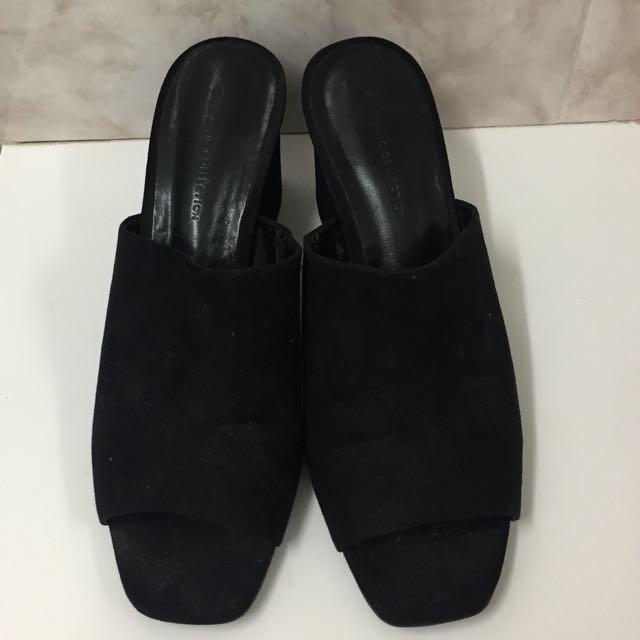 Zara Basic Black Mules/sandals