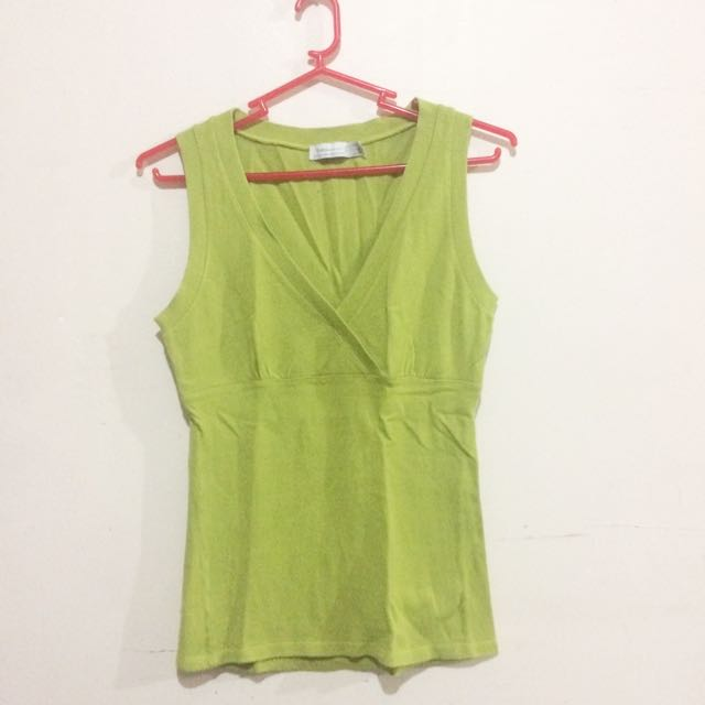 ZARA Green Sleeveless Top
