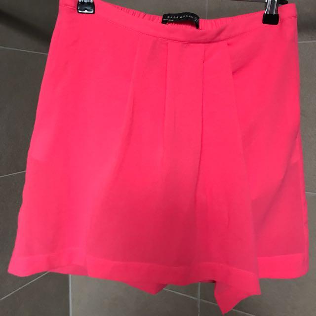 Zara Hot Pink Mini Skirt