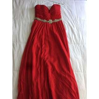 Authentic Jovani Red Prom Dress
