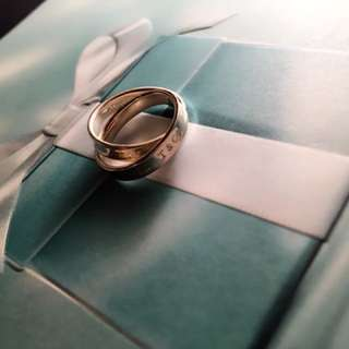 Tiffany & Co Interlocking Silver Ring