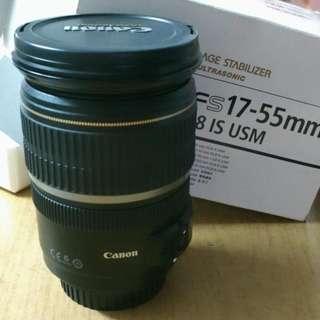 canon camera lens. EFS 17-55mm.
