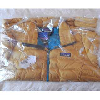 Patagonia womens down jacket, large, brand new with tags