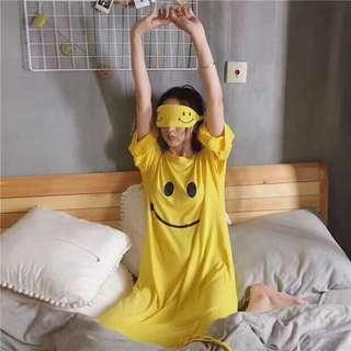 超下殺-可愛微笑睡衣三件組