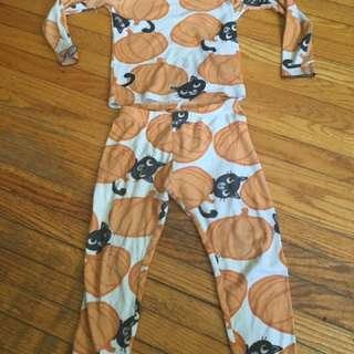 Pumpkin+black Cat Pyjamas