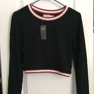 Abercrombie Long-Sleeve Crop Top