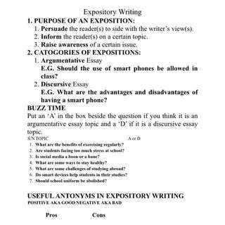 O Level English Expository Writing Package
